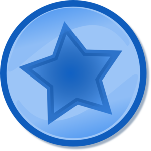 Blue Circled Star Clip Art