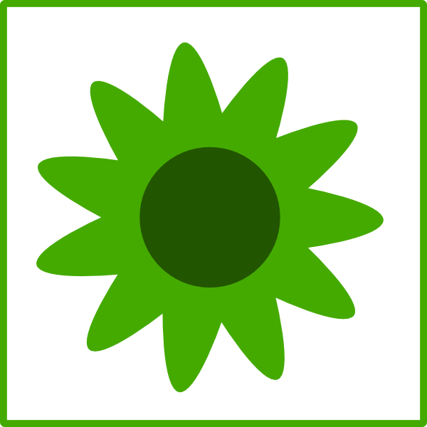 free green flower clipart - photo #22