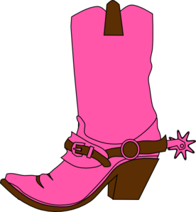 Cowgirl Hat And Boot Clip Art