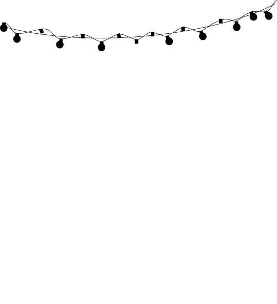 Black Silhouette String Lights Clip Art at Clker.com - vector clip art online, royalty free ...
