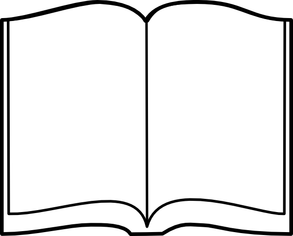 clipart open book blank pages - photo #4