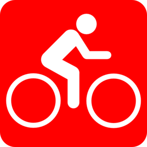 Red Background Bike Clip Art