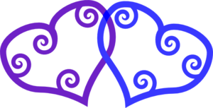 Heart Blue Purple 2 Clip Art