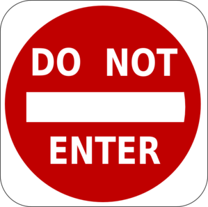 Do Not Enter Clip Art