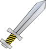 Gold And Black Sword Clip Art