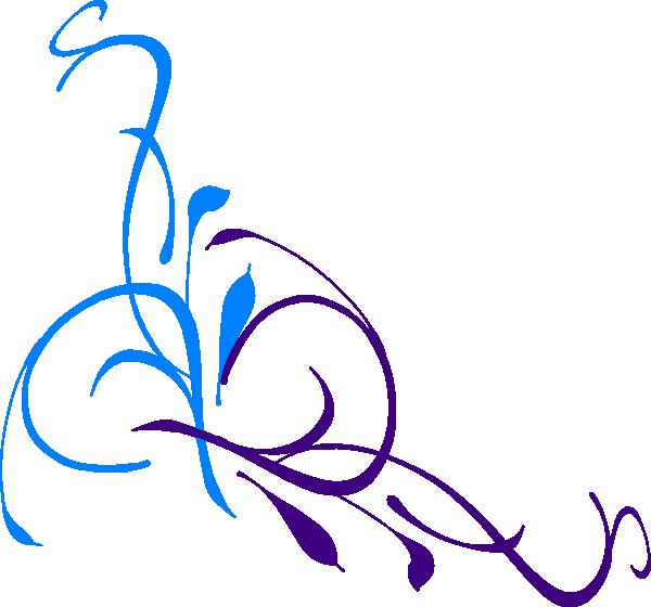 Wedding Floral Swirl Clip Art At Clker Com Vector Clip