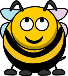 Bee Looking Up Clip Art