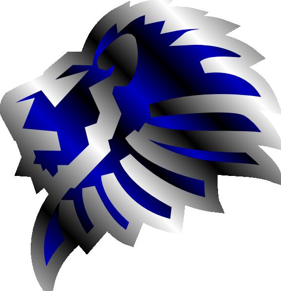 blue lion clip art at clkercom vector clip art online