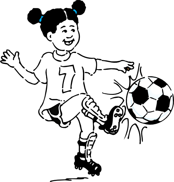 Soccer Outline Kick Clip Art At Clker Com