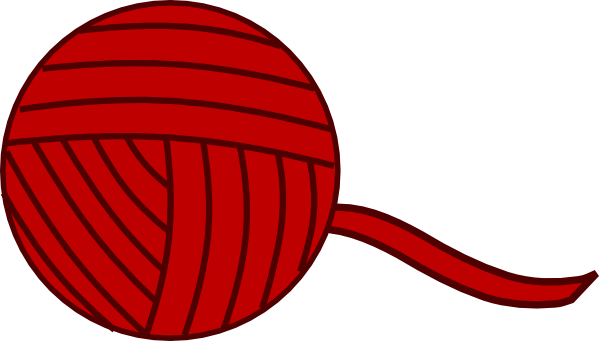 Burgandy Yarn Ball Clip Art at Clker.com - vector clip art ...