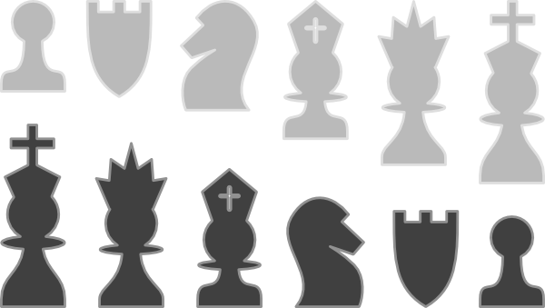chess thinner outline clip art at clker com