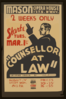 Counsellor At Law  Gripping Drama By Elmer Rice. Clip Art