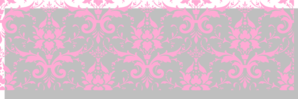Lisa Pink And Grey Damask Clip Art