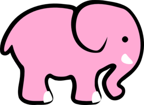 Adorable Pink Elephant Clip Art At Clker Com Vector Clip Art