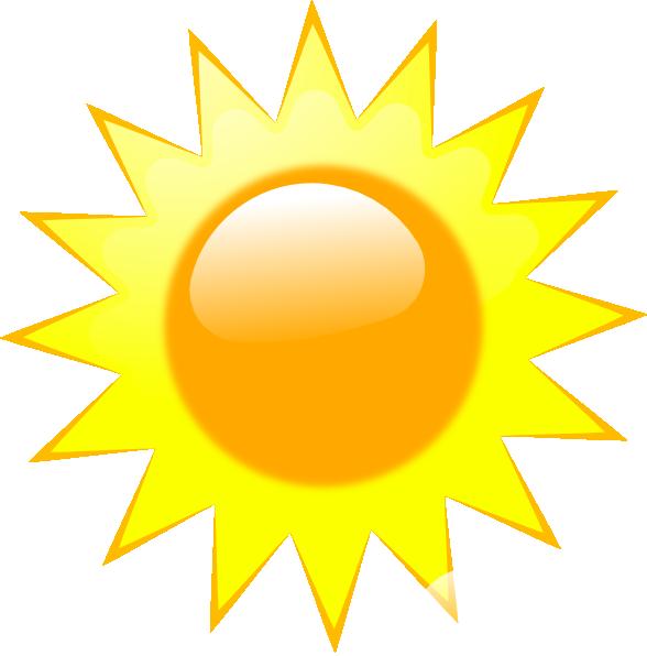 Clipart Sunny Weather Ed on Weather Forecast Symbols