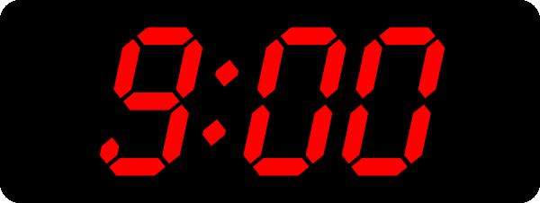 9 00 black red clip art at clker com vector clip art blank digital clock clip art digital clock clip art images
