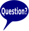 Blue Bubble Question #2 Clip Art