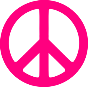 hot pink peace sign clip art at clker com vector clip art online rh clker com clip art peace sign symbol clipart peace sign hand