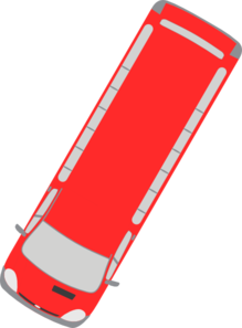 Red Bus - 240 Clip Art