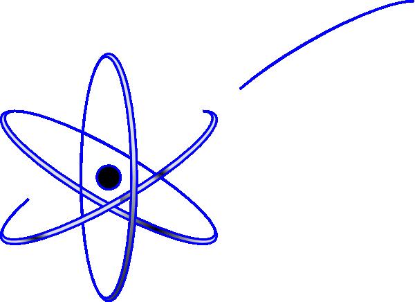 blue atom clip art at clker com vector clip art online royalty