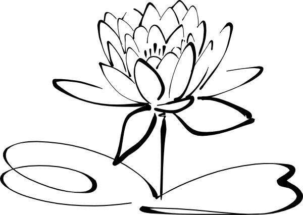 Lotus Flower Clip Art Vector Online Royalty Free Public