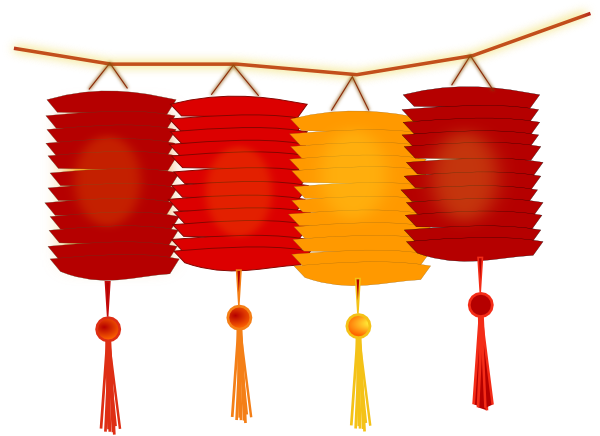 Paper Lanterns Clip Art at Clker.com - vector clip art ...