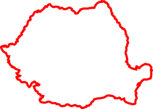 Romania Contour Red By Lmc Clip Art