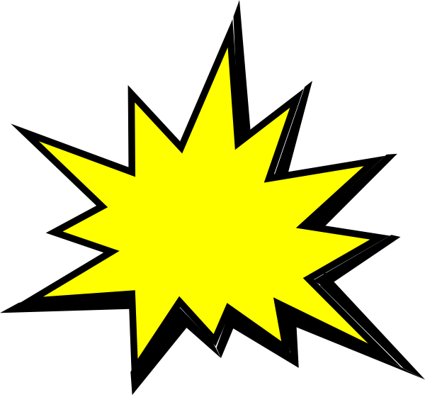 yellow comic pow clip art at clker com