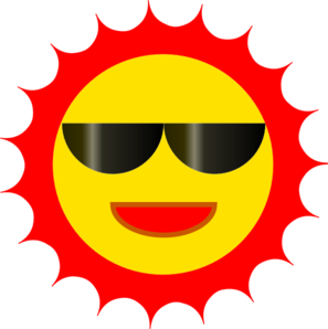 Sun Wearing Sunglasses Clip Art