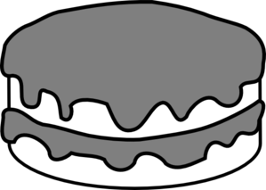 Plain Black And White Cake Clip Art