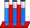 Test Tubes In Red Stand Full Of Water Clip Art