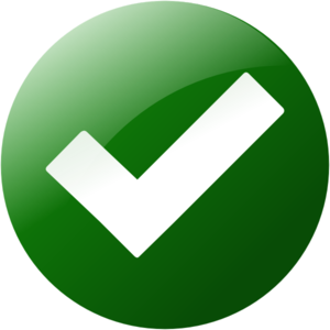 Simple Green Check Button Clip Art