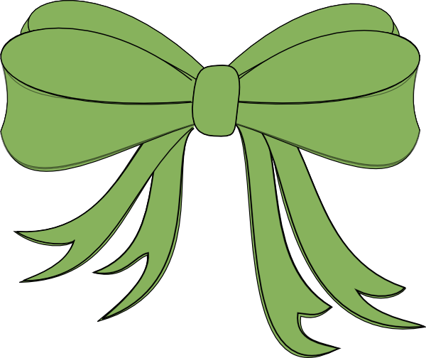 green christmas bow clipart 1
