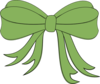 Green Decorative Bow Clip Art