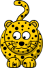 Leopard Looking Left-down Clip Art