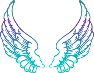 Purple Guardian Angel Wings Clip Art