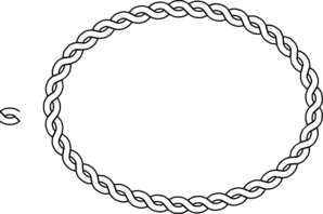 Rope Border Oval Clip Art