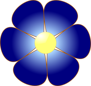 blue flower clip art at clker com vector clip art online royalty rh clker com blue bell flower clipart blue flower clipart images