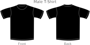Plain T-shirts Black 2 Clip Art