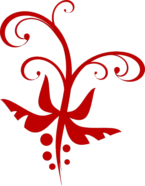 Red swirl clip art at clker vector online