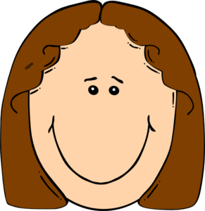 Happy Girl Brown Clip Art