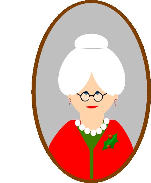 mrs claus clip art at clker com vector clip art online royalty rh clker com mrs claus hat clipart mrs santa claus clipart