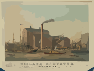 Niagara Elevator, Buffalo, N.y.  / Sage, Sons & Co. Lith. Print G And Man Fg Co., Buffalo, N.y. Clip Art