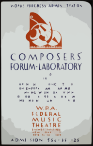 Works Progress Administration Composers  Forum-laboratory, Third Series Fortnightly Concerts Of Contemporary American Music, W.p.a. Federal Music Theatre. Clip Art