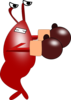 Boxing Shrimp Clip Art