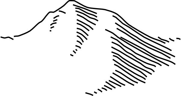 Line Art Mountains : Negative of mountain line drawing clip art at clker
