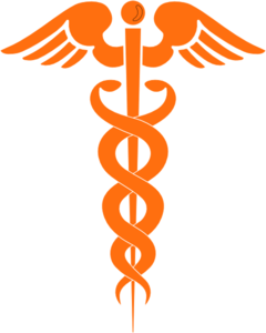 Caduceus Orange Clip Art