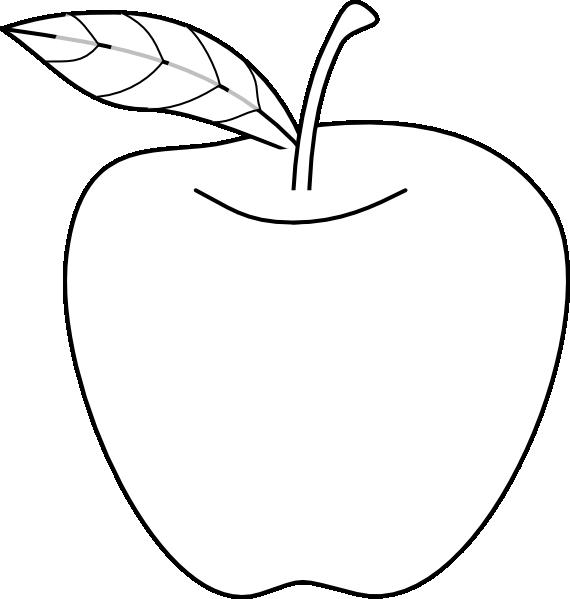 Line Art Of Apple : Apple outline clip art at clker vector