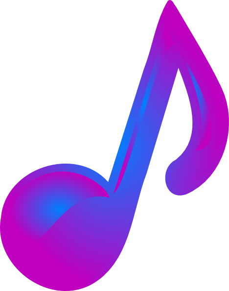purple and blue music note clip art at clker com vector clip art rh clker com musical note clip art transparent musical notes clip art images