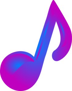 Purple And Blue Music Note Clip Art